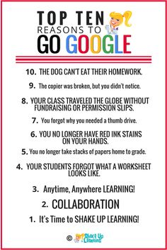 Top 10 Reasons Every School Should Go Google