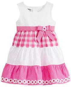 28fce36049 Blueberi Boulevard Baby Girls  Check Sundress - Kids Baby Girl (0-24 months