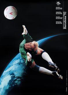 Addison Original Poster: Barcelona Olympics 92 (Soccer Football Player)