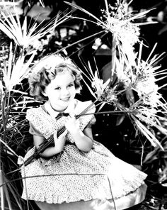 Shirley Temple, behind the scenes of The Littlest Rebel, 1935.