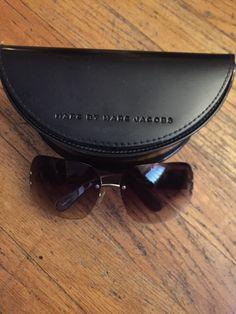 Marc Jacobs Women Rectangle Rimless Sunglasses Brown MMJ015 S | eBay