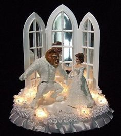 Beauty & the Beast Disney wedding Beauty And Beast Cake, Beauty And The Beast Wedding Cake, Sleeping Beauty Wedding, Disney Beauty And The Beast, Wedding Beauty, Dream Wedding, Beauty Beast, Disney Cake Toppers, Disney Cakes