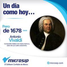 Un día como hoy 4 de marzo pero de 1678 nace Antonio Vivaldi, compositor italiano de música barroca, autor de Las cuatro estaciones.