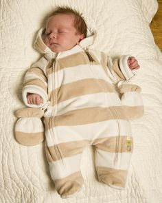 Stripe Velour BabySnowsuit - Bestsellers - View by Product - Newborn Essentials