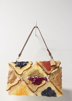 """mayahan: """"Hyper Realistic Fashion Brand Bread Bags and Pancake Purses by Chloe Wise: cast in urethane and intricately painted with a hyper-realism that constitutes a trompe l'oeil effect. Chloe, Arte Fashion, Fashion Design, High Carb Foods, Bread Bags, Pancakes And Waffles, How To Make Handbags, Trifle, Food Design"""