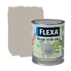 Flexa Strak in de Lak zijdeglans aluminium 1L (waterbasis)