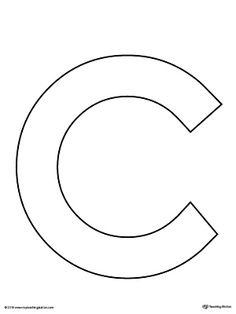 Unusual image regarding letter c printable