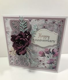 Vintage lace anniversary card, by using foam flowers Pin Up, Crafters Companion Cards, Birthday Cards For Women, Shabby Chic, Valentine's Day, Bunny Crafts, Butterfly Cards, Vintage Greeting Cards, Vintage Valentines