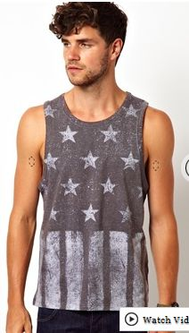 Stars and stripes tank top for men