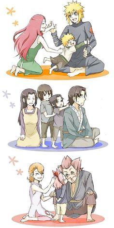 Uzumaki, Uchiha and Haruno family