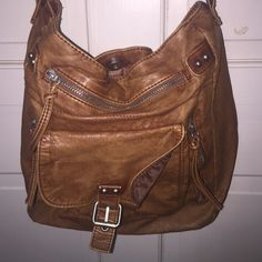 leather purse! over the shoulder brown leather purse from mossimo (sold at target), I've never used it and the worn look is to die for! I'm open to negotiations and I'm on Ⓜ️ Mossimo Supply Co. Bags Crossbody Bags