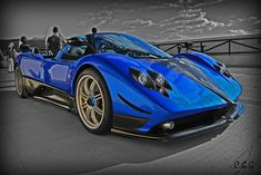 Blue Pagani Courtesy of experiment one.