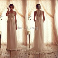 2013 Wedding Dresses Inspired by Anna Campbell Chiffon Backless Strapless Court Train Sleeves Bridal Dresses AC09 dhyz 01