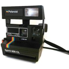 Vintage Polaroid Camera Polaroid Spirit 600 CL with Rainbow Stripe ($8.50) ❤ liked on Polyvore featuring camera, accessories, fillers, items and technology #camerapolaroid