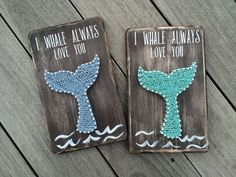 I Whale Always Love You// Love Pun// Animal Pun// I Love You// Whale// String Art// Wooden Sign