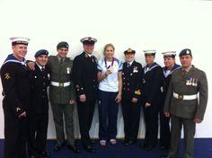 Flag Raisers Team F with Silver Medal Winner Gemma Gibbons Judo