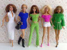 """7 Strickanleitungen für Puppenkleidung Serie Basics von """"Ina strickt"""""""