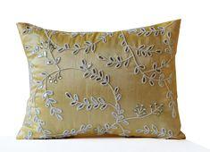 yellow throw pillow pillows beaded sequin throw pillow silk