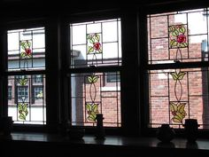 Art Nouveau stained glass windows