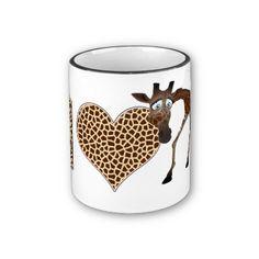 I Love Giraffes Coffee Mug