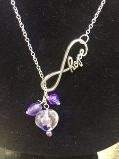 Hope Infinity Relay For Life Purple and Chain by CraftsandHope