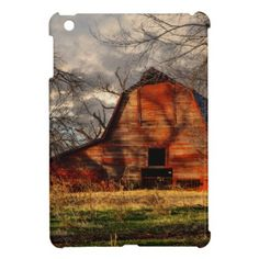 Red Barn iPad Mini Cases - red gifts color style cyo diy personalize unique
