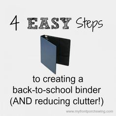 Are you ready for back-to-school? Here is an easy way to reduce clutter from all those papers that find their way into your home!