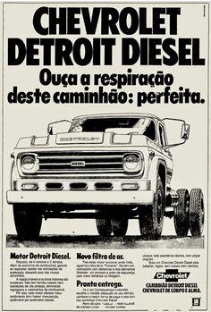 Anúncio caminhão Chevrolet Detroit  Diesel 1977