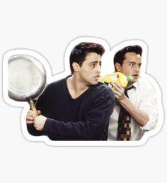 Joey and Chandler Sticker