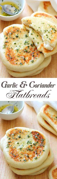 Garlic And Coriander Flatbreads