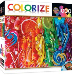 MasterPieces Colorize Taste the Rainbow - Candy Collage 1000 Piece Jigsaw Puzzle, Multicolor Fall Mantel Decorations, Fall Decor, Alison Lee, Paint Buckets, Rainbow Candy, Taste The Rainbow, Popular Christmas Gifts, Shopping Hacks, Diy Crafts To Sell