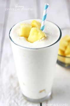 A sweet and tangy pineapple smoothie that is secretly healthy! No added sugar AND there is a dairy-free option!