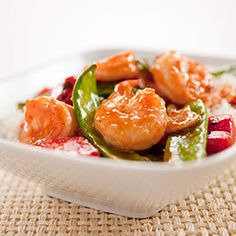 Stir-Fried Shrimp with Snow Peas and Red Bell Pepper in Hot and Sour Sauce - America's Test Kitchen