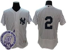New York Yankees Jersey - #2 Derek Jeter with Retirement Patch White Flex Base