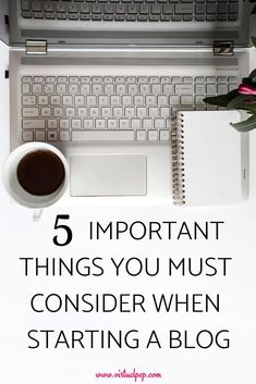 These are the 5 important things you should consider before starting a blog. This checklist of ideas will help you focus on the important aspects of blogging. #StartingABlog #BloggingForBeginners Social Media Marketing Platforms, Thing 1, Online Blog, Blogging For Beginners, Lessons Learned, Social Media Tips, Blog Tips, Make Money Online, How To Start A Blog