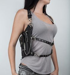Hip and Holster Bag . belt can be worn in a number of ways: shoulder holster, leg holster, or crossbody.