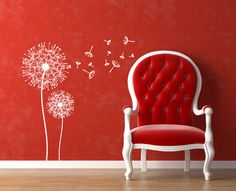 Vinyl Wall Decal Dandelion Wall decals by Zapoart on Etsy, $34.00