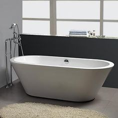 """New Waves  Contemporary Lounger Tub  63"""" L x 28"""" W x 20"""" H $1,199.99  Shipping & Handling included *"""