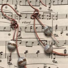 handmade, copper, earrings