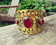 Afghan Ethnic tribe cuff bracelet Jewelry Cuff by ZamarutJewel