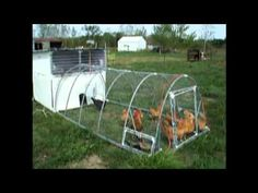 The Ultimate PVC Chicken Tractor Mobile Coop - YouTube