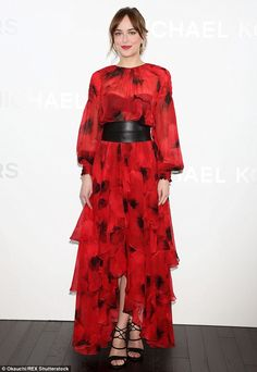 Girl gone Geisha: Dakota, 26, owned the style limelight as she glided onto the red carpet ...