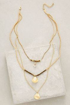 Halfshell Layered Necklace - anthropologie.com