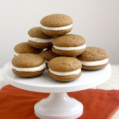 Tracey's Culinary Adventures: Gingerbread Whoopie Pies with Lemon Cream Cheese Filling