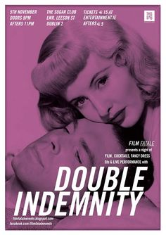 Double Indemnity Movie Poster 11x17 Mini Poster