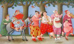 Ada Breedveld, Flierefluiters, acryl op linnen, 80x130 cm. Te zien bij Galerie Van Strien op de expositie 'Met de Muziek Mee'  t/m 27 okt