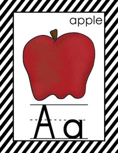 Alphabet and Number Cards for the Primary Classroom {Black and White Color Scheme}