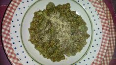 Italian and Vegetarian: Rye risotto with broccoli sauce
