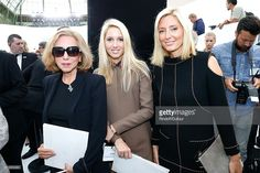 Princess Marie-Chantal of Greece, her daughter Princess Maria Olympia of Greece and her mother Miss Robert W. Miller attend the Chanel show as part of Paris Fashion Week - Haute Couture Fall/Winter 2014-2015. Held at Grand Palais on July 8, 2014 in Paris, France.