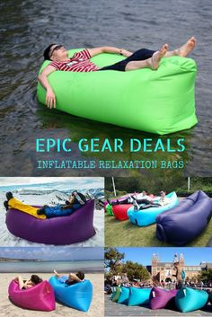 Inflatable Lazy Bags - End of Summer Discount! Yours for $38.22